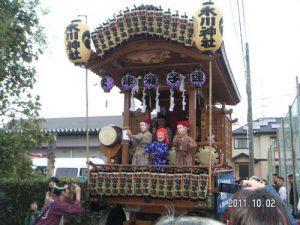 秋津町の氷川神社の例大祭