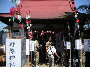野際(のぎわ)神社の夏祭り