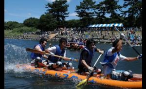 第29回狛江古代カップ多摩川いかだレース