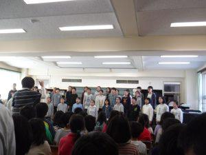 七生緑小学校合唱団ミニコンサート開催
