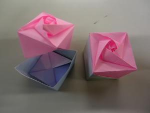 「折紙・バラ灯篭」作り