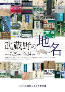第2回企画展「武蔵野の地名」